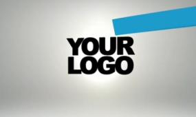 AE蓝色飘带展示LOGO视频模板