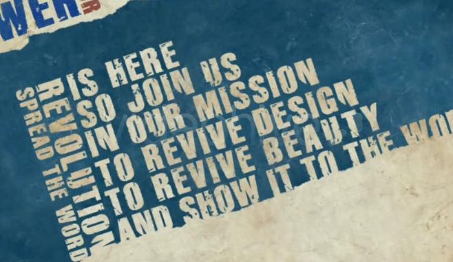 AE电影字幕视频模板