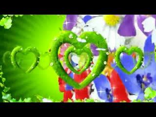 LED绿色爱心  唯美背景素材