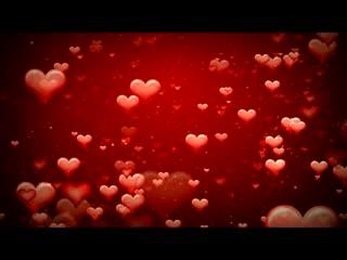 LED婚礼 爱心漂浮 背景素材