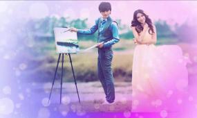 会声会影X6 韩式婚礼温馨浪漫love写真相册视频模板