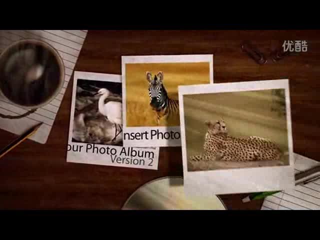 AE照片飘落下相册感恩相册视频模板