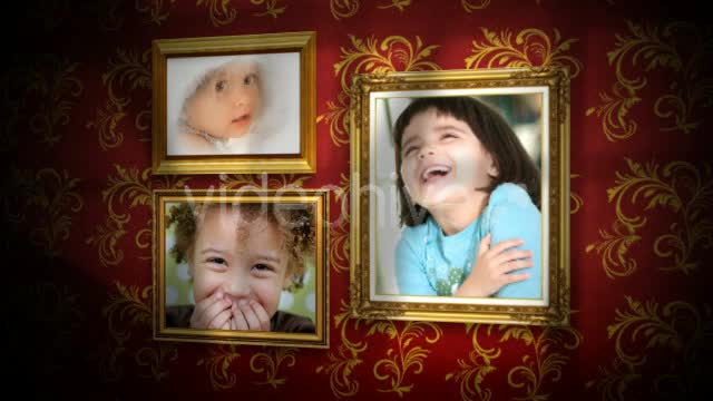 AE金色相框爱情相册视频模版