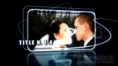 AE深蓝震撼婚礼视频模板