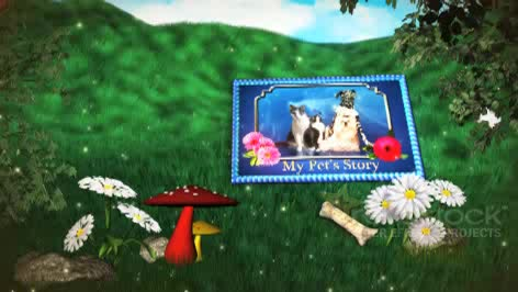 AE卡通梦幻书本翻页婚礼相册视频模板
