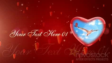 AE浪漫红色心形视频模板