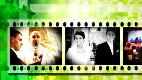 AE绿色胶卷视频模板