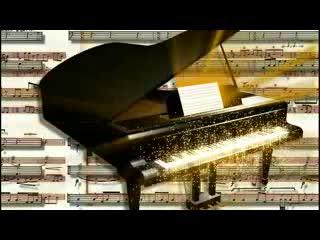LED婚礼 钢琴  视频背景素材