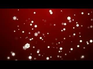 .LED视频背景素材  唯美雪花飘落
