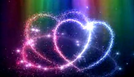 LED婚礼  浪漫唯美 双爱心 视频背景素材