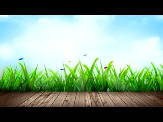 LED婚礼 草丛蝴蝶飞舞  背景视频素材