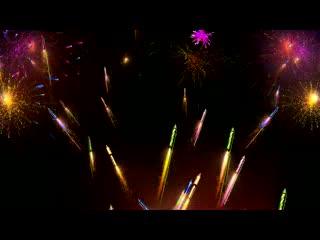 LED婚礼  艳火绽放 绚烂视频素材背景