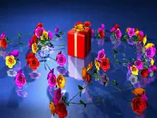LED视频背景 礼物鲜花 视频素材