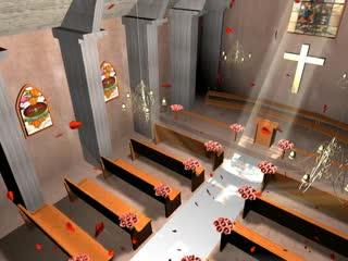 LED婚礼 梦幻教堂 视频背景素材