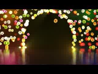 LED婚礼  鲜花拱门  视频背景素材