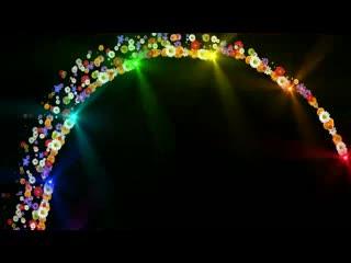 LED背景视频  鲜花彩虹 炫丽灯光视频素材