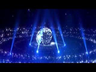LED婚礼 金色钻石 闪耀视频背景素材