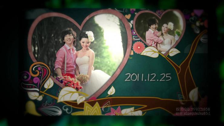 AE爱情树婚礼片头视频模板