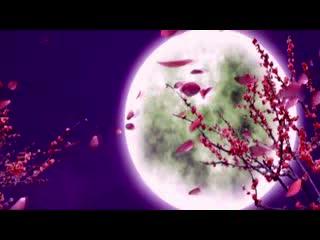 LED中国风  月下花开视频素材