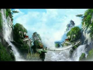 LED中国风  梦幻仙境瀑布视频素材