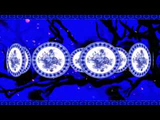 LED中国风  唯美青花瓷  视频素材
