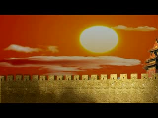 LED中国风  长城战火  视频素材