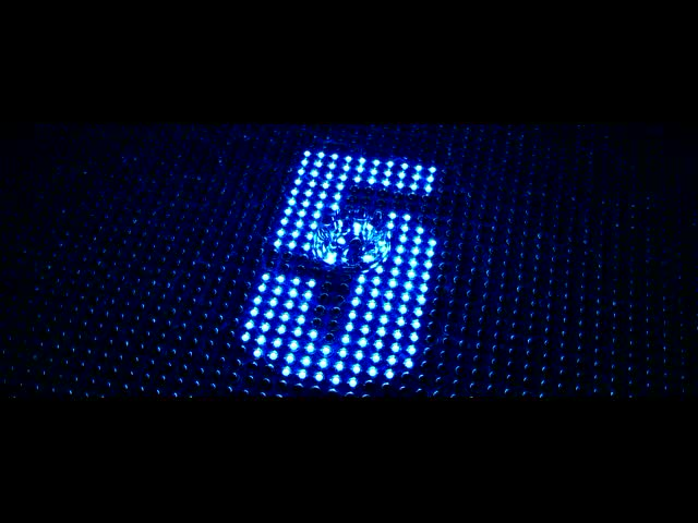 LED倒计时 5秒灯阵水滴倒计时 视频素材