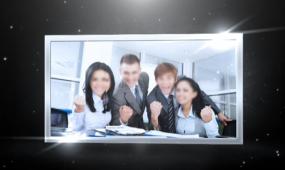 AE震撼金属相框企业宣传视频模板