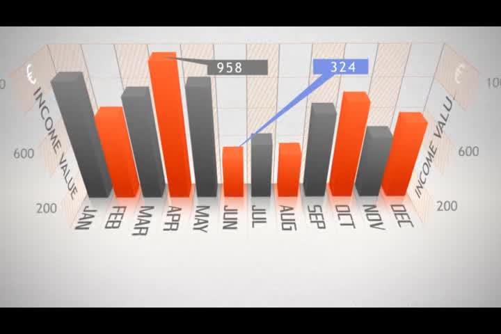 AE企业12款数据统计视频模板