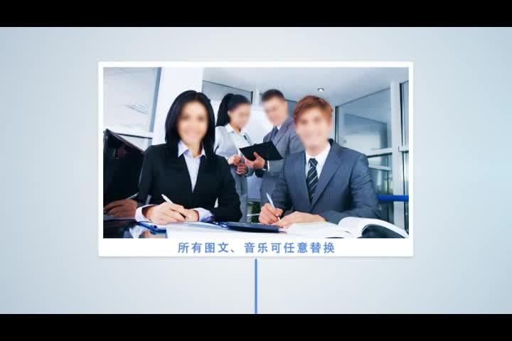 AE企业大事记年终总结视频模板