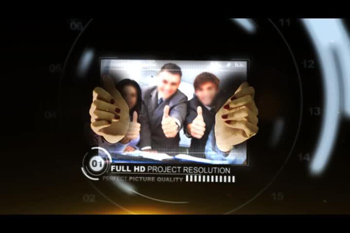 AE手指点击科技企业宣传投标演示片头视频模板