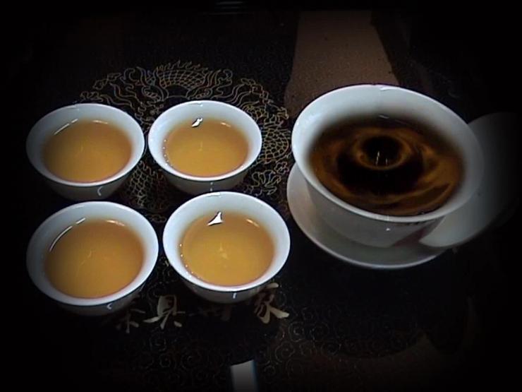 AE中国风水墨绿色茶文化片头视频模板