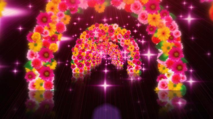 绚丽彩虹花动态视频素材