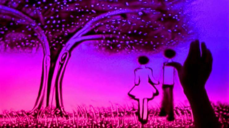 爱情时刻婚礼沙画视频