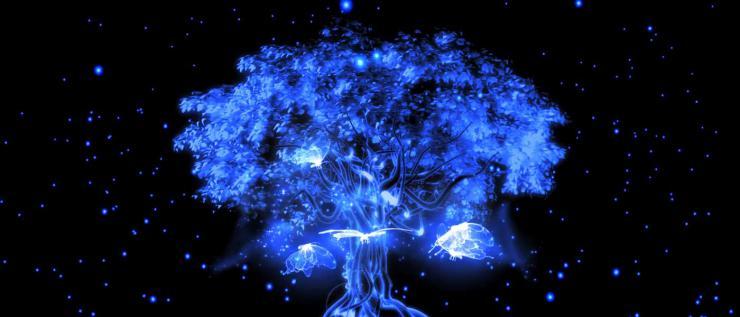 光效蝴蝶树动态视频