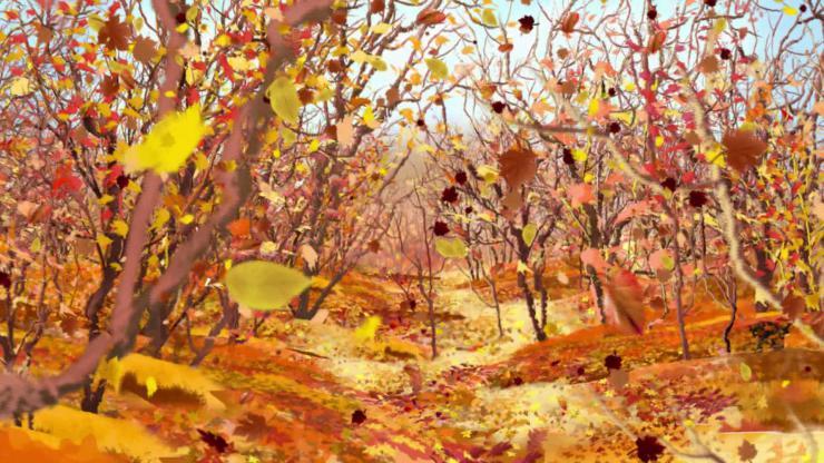 秋天落叶动态视频素材