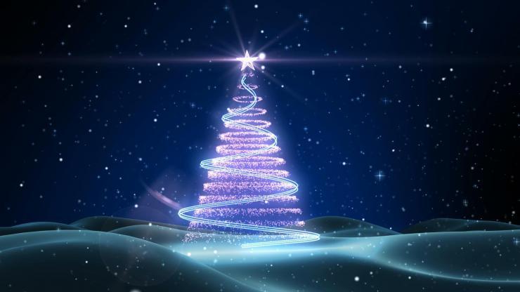 唯美圣诞树动态视频