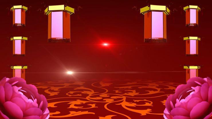 春节联欢晚会牡丹开场通用版视频