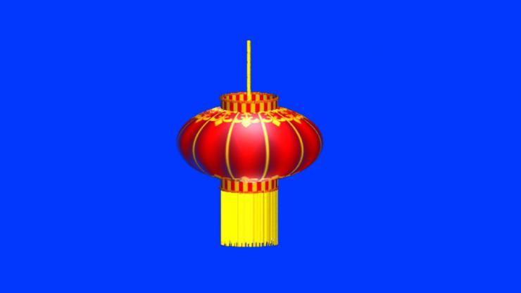 大红灯笼旋转视频(带通道)