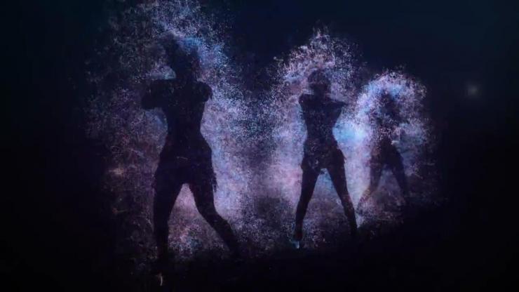 动感舞蹈人影闪动视频素材
