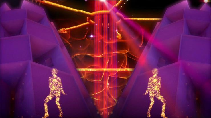 舞动粒子人物火焰舞蹈
