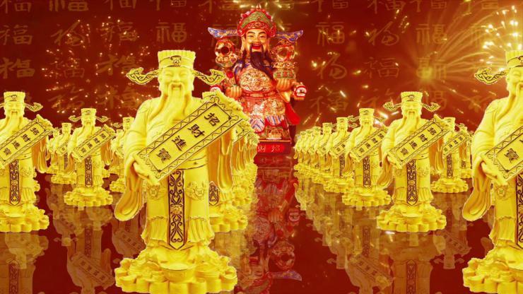 喜庆节日财神背景视频03