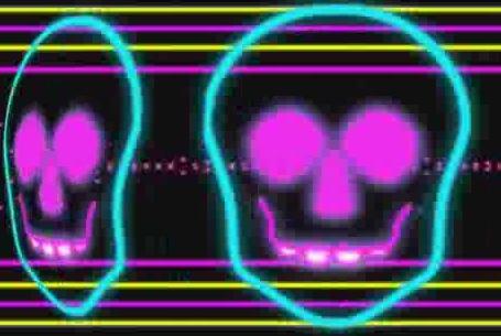 酒吧VJ  霓虹闪烁动感节奏诡异骷髅 视频素材