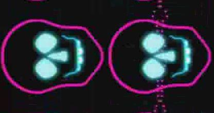 酒吧VJ 霓虹闪烁动感节奏诡异骷髅4 视频素材