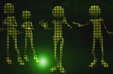 酒吧VJ 外星人光影跳动的虚拟节奏4 视频素材