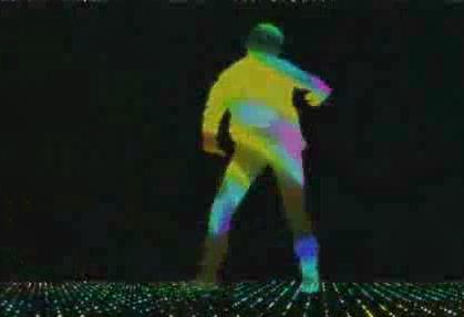 酒吧VJ   热舞女影星光闪烁粒子剪影 视频素材