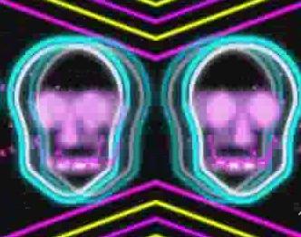 酒吧VJ 霓虹闪烁动感节奏诡异骷髅11 视频素材