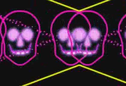 酒吧VJ 霓虹闪烁动感节奏诡异骷髅12 视频素材