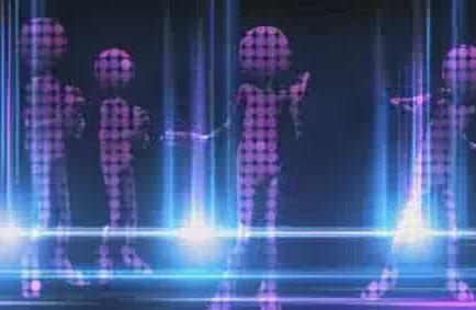 酒吧VJ 外星人光影跳动的虚拟节奏8 视频素材