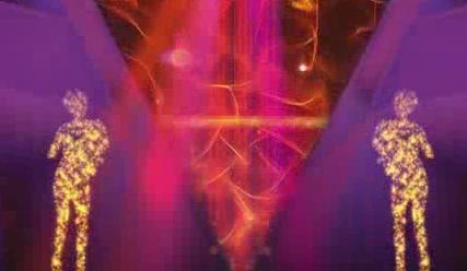 酒吧VJ   舞台背景超动感粒子人物演出 视频素材